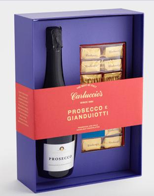 Prosecco and Gianduiotti gift set