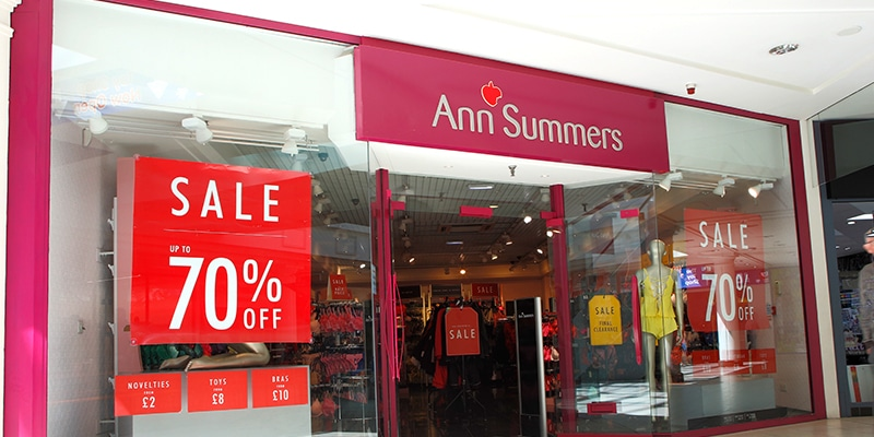 Ann Summers – Temporarily Closed